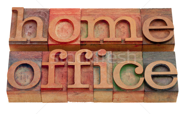 Escritório em casa palavras vintage tipo Foto stock © PixelsAway