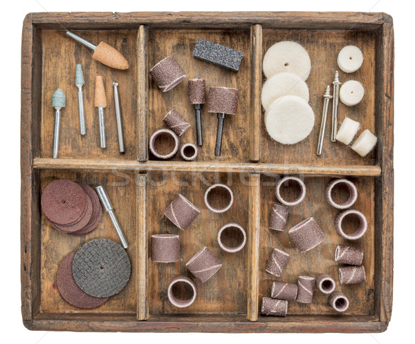 rotary tools in rustic boc Stock photo © PixelsAway