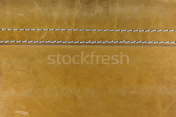 yellow leather with white stitches Stock photo © PixelsAway