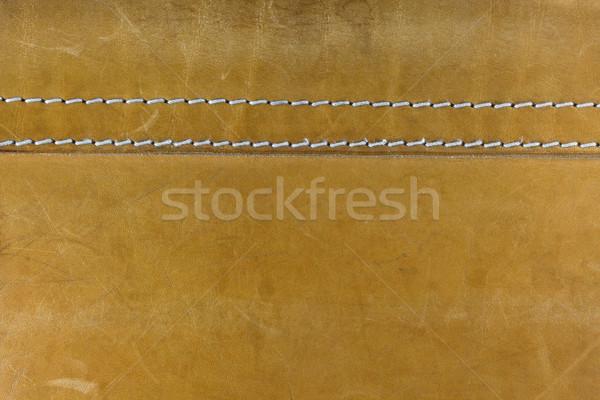 желтый кожа белый Швы старые хорошо Сток-фото © PixelsAway