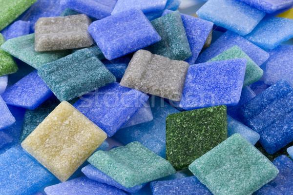 Los glas mozaiek tegels ijzig Stockfoto © PixelsAway