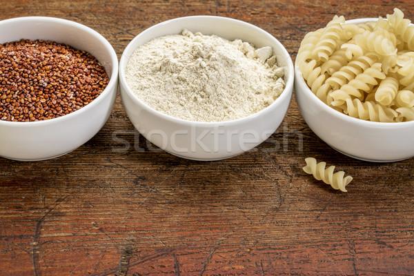 Tahıl un makarna glutensiz üç küçük Stok fotoğraf © PixelsAway