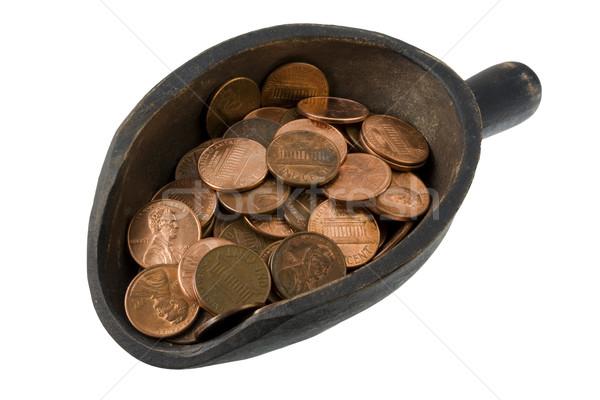 черпать деньги темно окрашенный изолированный Сток-фото © PixelsAway
