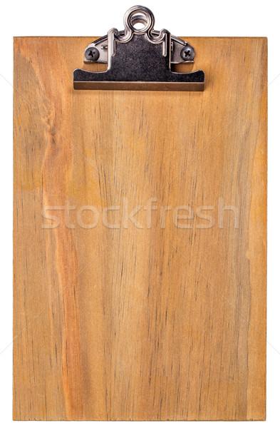 wooden blank clipboard Stock photo © PixelsAway