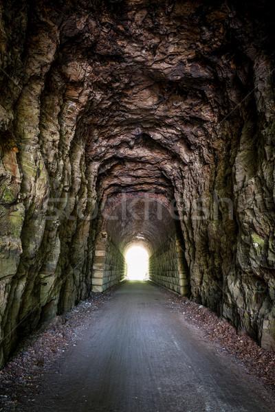 свет конец туннель тропе Миссури велосипедов Сток-фото © PixelsAway