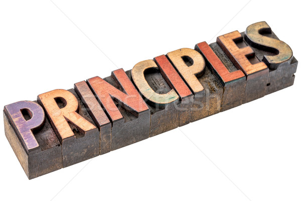principles word in vintage wood type Stock photo © PixelsAway