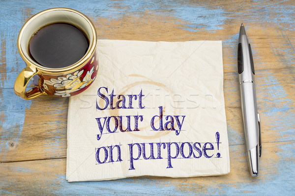 Stock photo: Start your day on purpose!