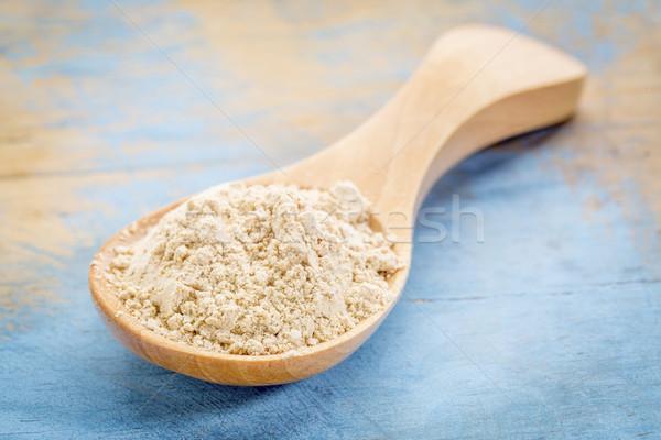 maca root powder on wooden spoon Stock photo © PixelsAway