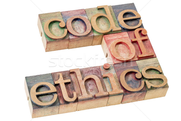 code of ethics word abstract Stock photo © PixelsAway