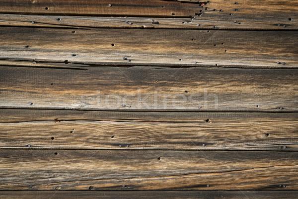 Rustykalny wyblakły struktura drewna kabiny ściany tekstury Zdjęcia stock © PixelsAway