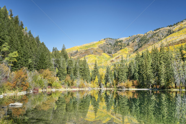 lake with fall colors reflections  Stock photo © PixelsAway