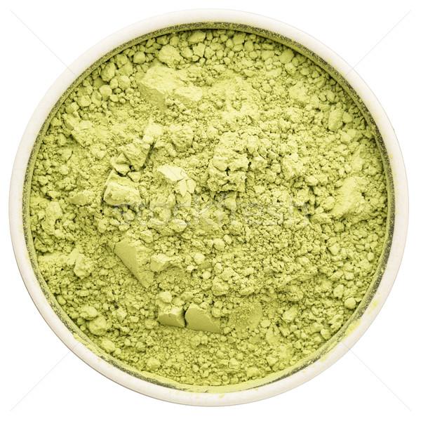 зеленый чай керамической чаши изолированный белый Сток-фото © PixelsAway