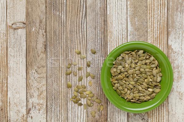 Zucca semi verde ceramica ciotola grunge Foto d'archivio © PixelsAway
