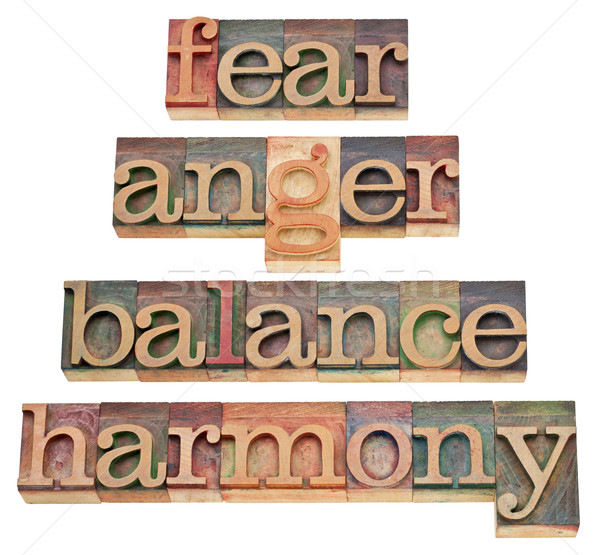 fear, anger, balance, harmony Stock photo © PixelsAway