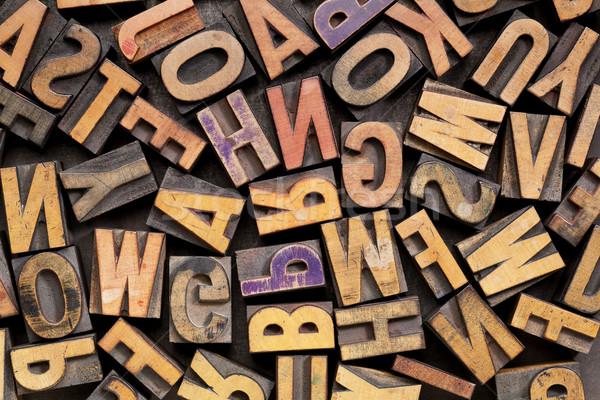 vintage letterpress wood printing blocks Stock photo © PixelsAway