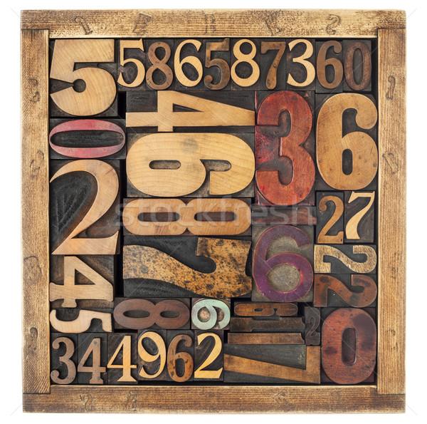 番号 抽象的な 木材 タイプ ヴィンテージ ストックフォト © PixelsAway