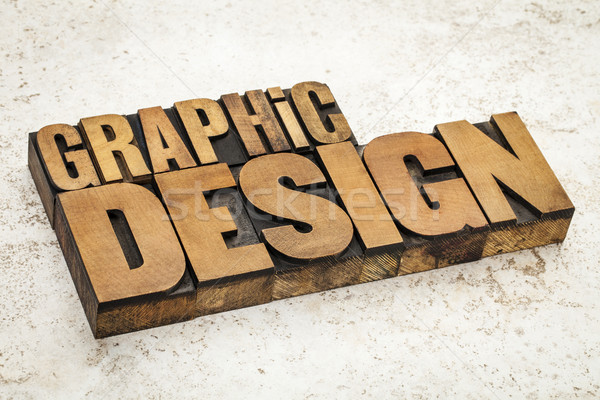 graphic design in wood type Stock photo © PixelsAway