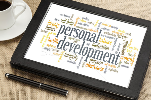 personal development word cloud Stock photo © PixelsAway