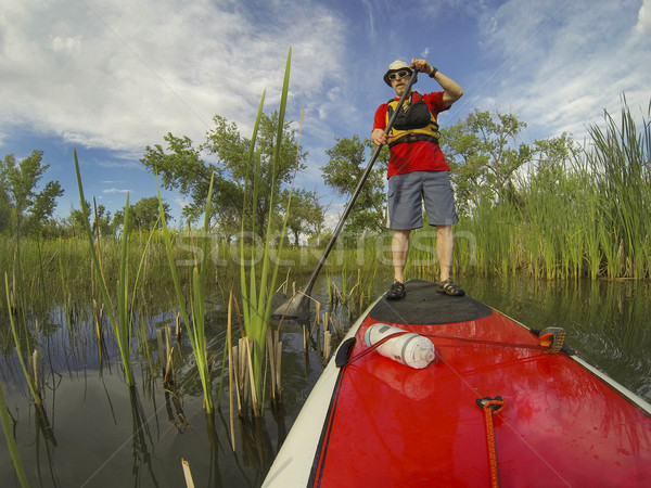 stand up paddling (SUP) Stock photo © PixelsAway