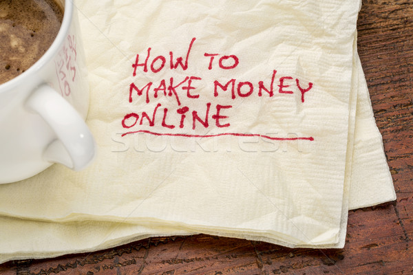 How to make money online Stock photo © PixelsAway