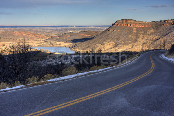 mountain highway at foothills of northern Colorado Stock photo © PixelsAway