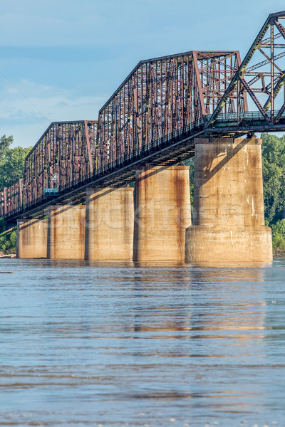 Bağbozumu Mississipi nehir köprü detay eski Stok fotoğraf © PixelsAway