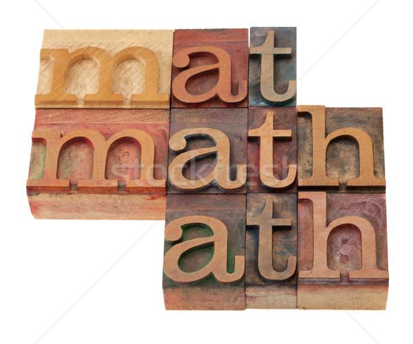 Matematik kelime soyut tip bağbozumu Stok fotoğraf © PixelsAway