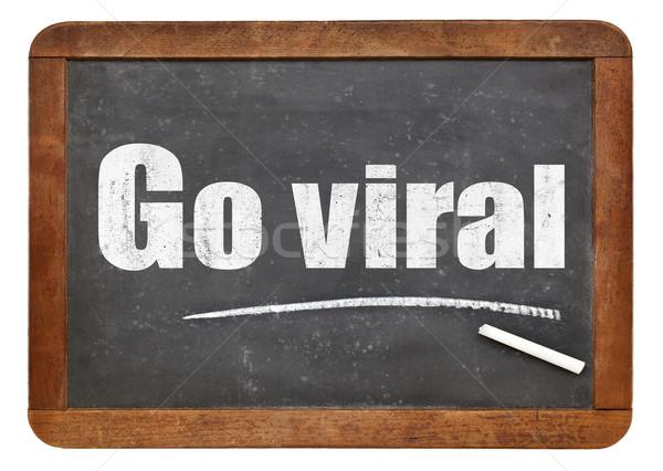 Go viral - text on blackboard Stock photo © PixelsAway