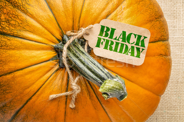Black Fiday price tag iwth a pumpkin Stock photo © PixelsAway