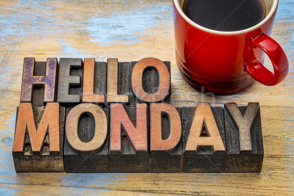 Hello Monday in wood type Stock photo © PixelsAway