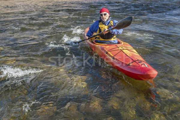 paddling river kayak Stock photo © PixelsAway