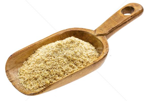rustic scoop of flax meal Stock photo © PixelsAway
