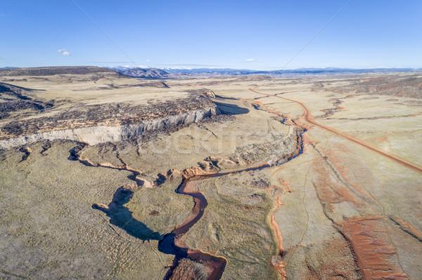 creek at  Colorado foothills - aerial view Stock photo © PixelsAway
