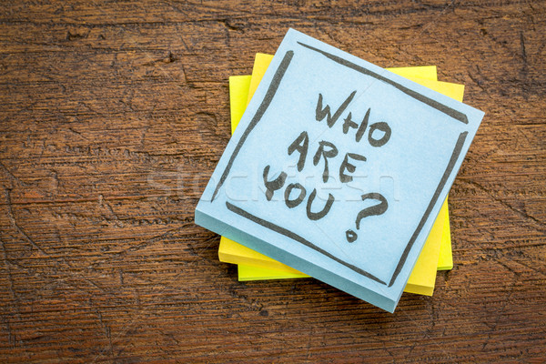 Who are you question on sticky note Stock photo © PixelsAway