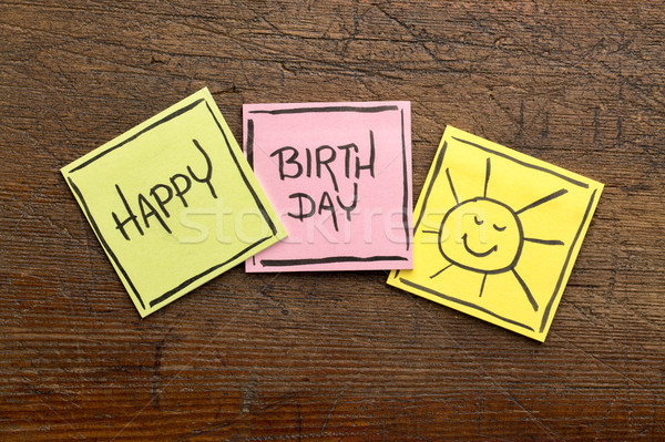 Happy Birthday greeting card or banner Stock photo © PixelsAway