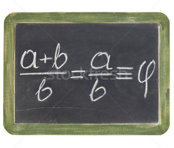 golden ratio on blackboard Stock photo © PixelsAway