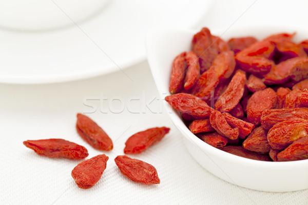 organic dried Tibetan goji berries Stock photo © PixelsAway