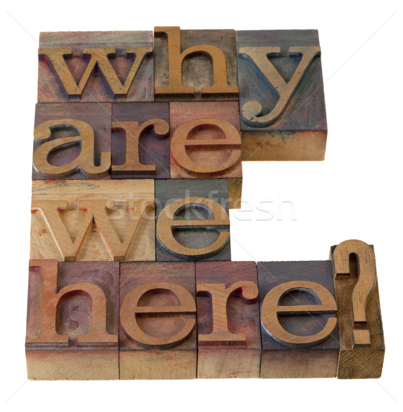 why are we here question Stock photo © PixelsAway