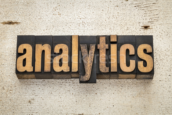 Analytics mot bois type vintage Photo stock © PixelsAway