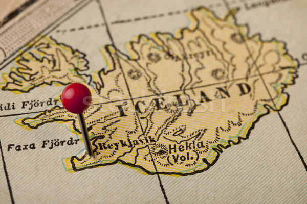 Iceland and Reykjavik map Stock photo © PixelsAway