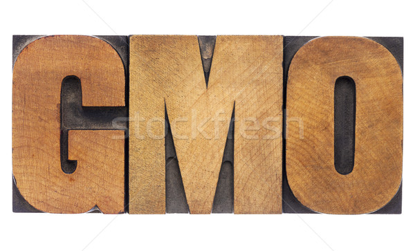 GMO acronym in wood type Stock photo © PixelsAway