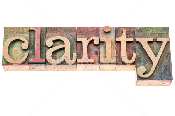clarity word in wood type Stock photo © PixelsAway