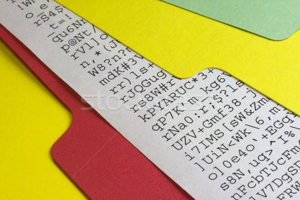 gibberish document in a file folder Stock photo © PixelsAway
