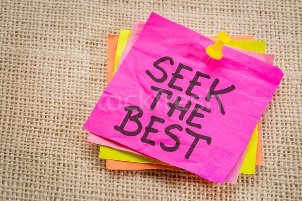 seek the best reminder note Stock photo © PixelsAway