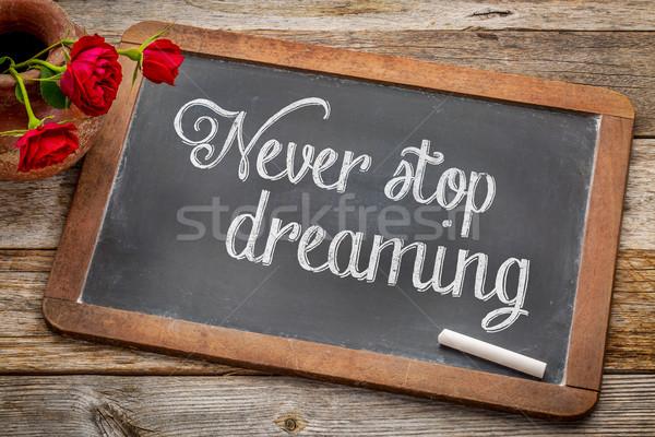 決して 停止 夢 黒板 アドバイス リマインダー ストックフォト © PixelsAway