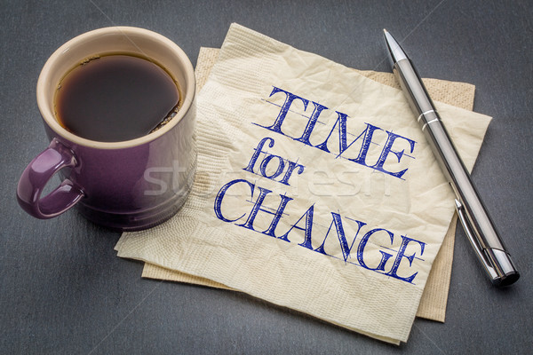 time for change note Stock photo © PixelsAway