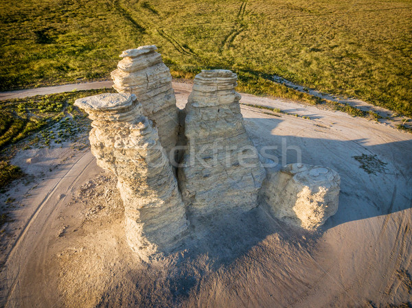 Castle Rock in Kansas prairie Stock photo © PixelsAway