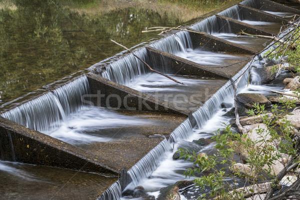 Nehir bir su kale çağlayan Stok fotoğraf © PixelsAway