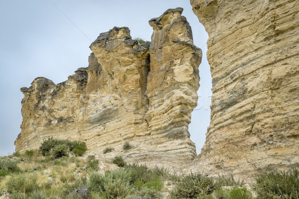 limestone pilars in Kansas prairie Stock photo © PixelsAway