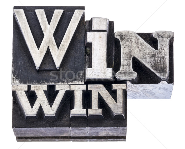 win-win strategy in metal type Stock photo © PixelsAway